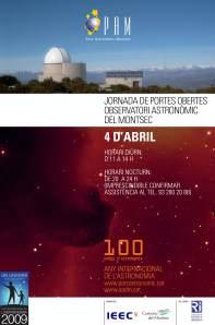 Puertas abiertas en el Observatori Astronòmic del Montsec (OAdM)
