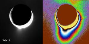 Chorros de agua en Encélado