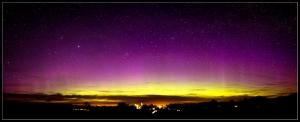 Aurora observada en Letonia. Foto: Janis Satrovskis