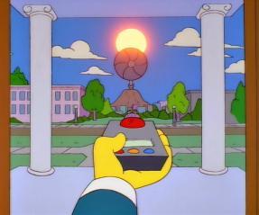 Momento del capítulo de los Simpsons en el que el Sr. Burns oscurecía el Sol