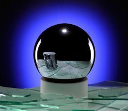 La esfera de silicon-28. Foto: PTB